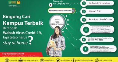 Alur Pendaftaran Online Mahasiswa Baru UNAS Semester Ganjil T.A. 2020/2021
