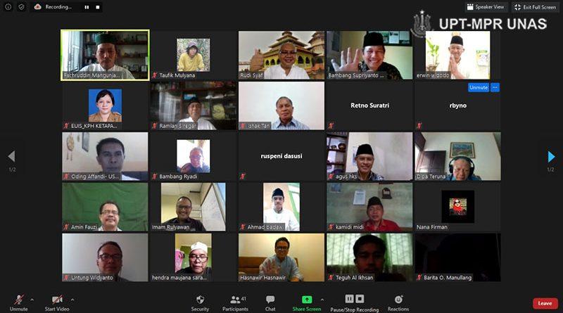 """NGAJIONLINEPPI-04 """"Pemberdayaan Umat Di Sekitar Kawasan Hutan Pada Masa Covid-19"""" di Jakarta, Jumat, (15/5)."""