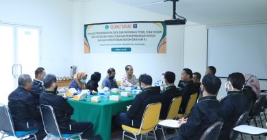 Kegiatan Wawancara Pusat Pengembangan Data dan Informasi Penelitian Hukum dan HAM dengan PBH Unas