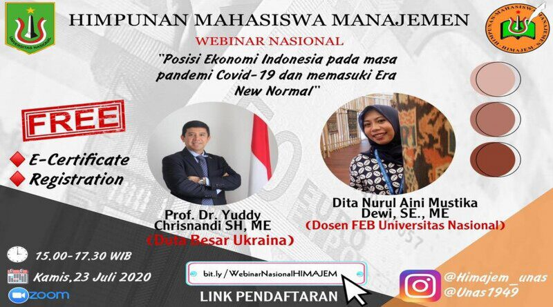 Webinar Program Studi Manajemen FEB UNAS