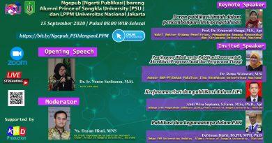 Ngepub_NgertiPublikasi_bareng Alumni Prince of Songkla University_PSU_dan LPPM UNAS Jakarta