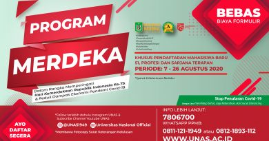 PROGRAM MERDEKA UNAS (DIRGAHAYU REPUBLIK INDONESIA KE 75)