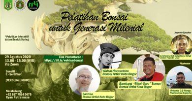 Pelatihan Bonsai Untuk Generasi Milenial