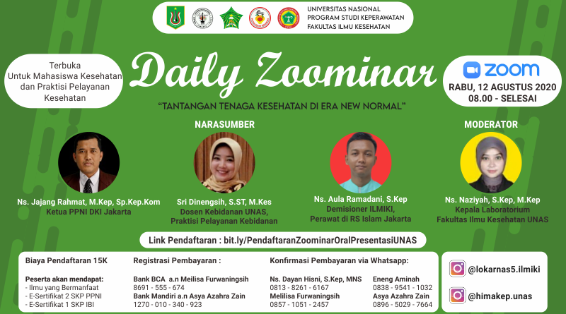 """Daily Zoominar """"Tantangan Tenaga Kesehatan di Era New Normal"""""""