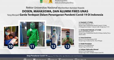 Rektor UNAS Memberikan Apresiasi Kepada Dosen, Mahasiswa, dan Alumni FIKES UNAS