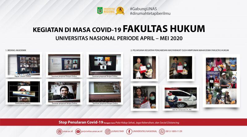 KEGIATAN DI MASA COVID-19 FAKULTAS HUKUM UNAS