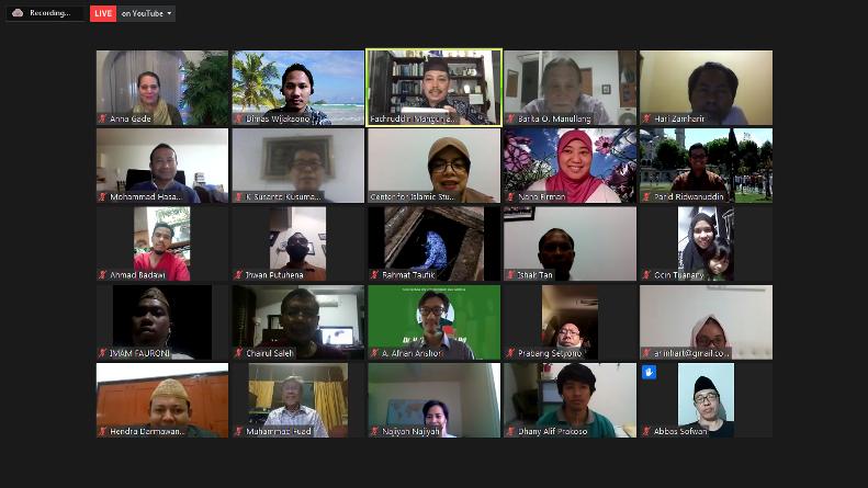 """Kajian jum'at #12 bertajuk diskusi dan bedah buku """"Muslim Environmentalism"""" pada Jumat, (18/9) di Jakarta melalui aplikasi zoom meeting"""
