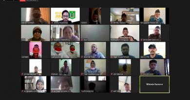 """Diskusi Publik Hari Badak Sedunia """"Kemitraan Strategis Agama dan Ekologi"""" melalui aplikasi zoom meeting, di Jakarta, pada Kamis, (24/9)"""