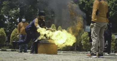 Pelatihan Pemadaman & Penanggulangan Kebakaran di Kampus Universitas Nasional pada Rabu (9/9), di Auditorium Blok 1 Lantai 4