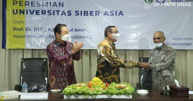 Peresmian Universitas Siber Asia oleh Wakil Presiden Republik Indonesia (RI), Prof. Dr. (HC) KH Ma'ruf Amin pada Selasa, 22 September 2020