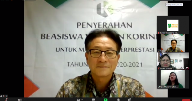 Sekretaris General Yayasan Korindo Yi Sun Hyeong saat memberikan sambutan dalam acara kegiatan penyerahan beasiswa yayasan korindo pada Selasa, 29 September 2020 di Jakarta