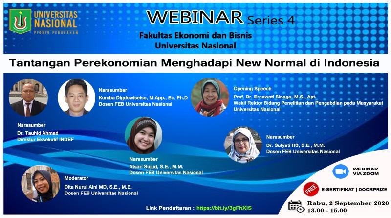 WEBINAR SERIES 4 FEB UNAS Tantangan Perekonomian Menghadapi New Normal di Indonesia