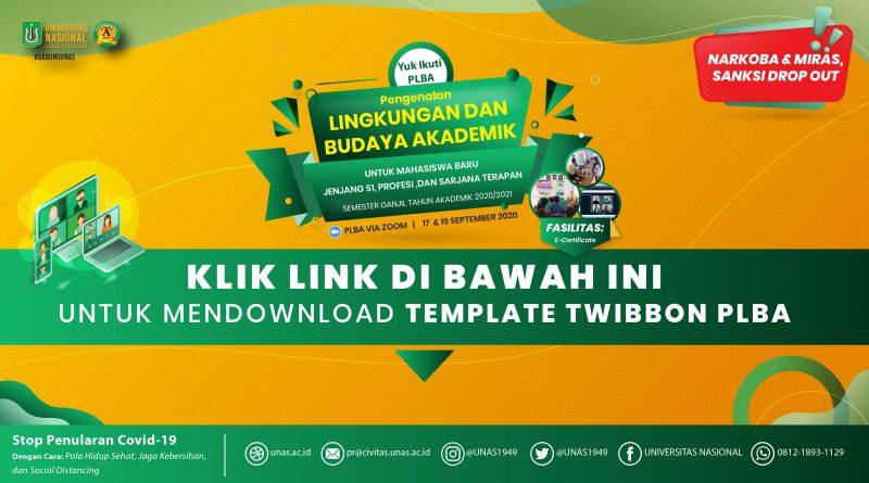 Web Banner Twibbon PLBA SMSTR GANJIL 2020