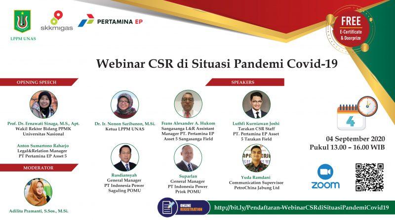Webinar CSR di Situasi Pandemi Covid-19_LPPMUNAS