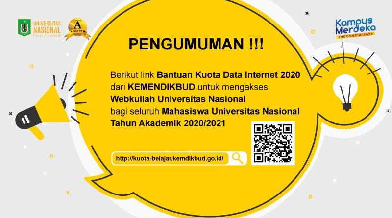 Pengumuman Nama-Nama Mahasiwa Yang Tidak Valid Bantuan Kuota Internet Fakultas Keperawatan