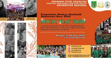 "Pengenalan Budaya Akademik Mahasiswa Baru 2020 ""Socio Day 2020"""