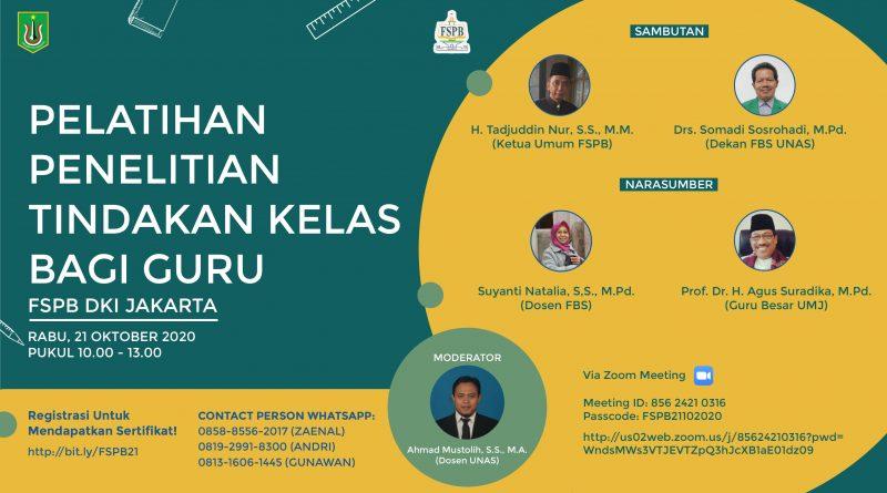 PELATIHAN PENELITIAN TINDAKAN KELAS BAGI GURU FSPB DKI JAKARTA