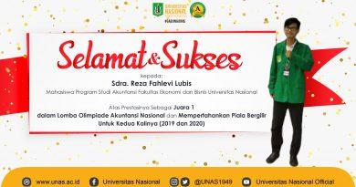 Prestasi Reza Fahlevi Lubis Mahasiswa Program Studi Akuntansi FEB UNAS