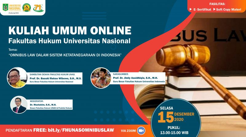 Kuliah Umum FH UNAS 15 Desember 2020