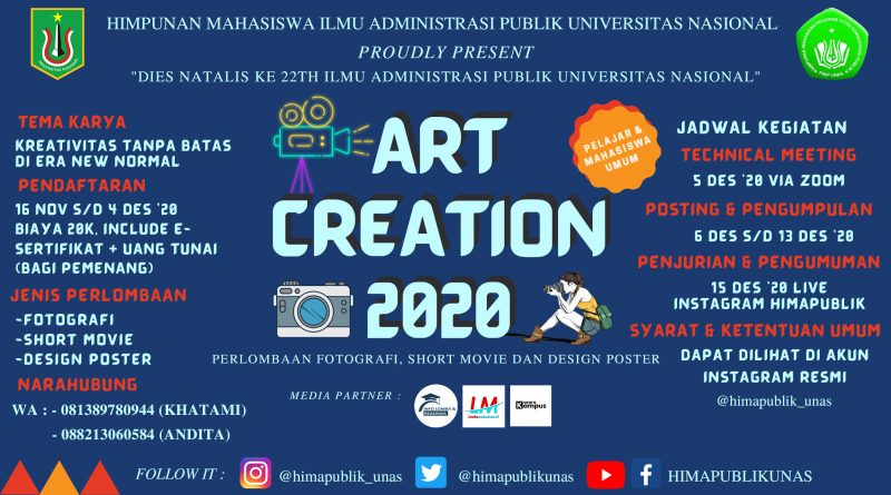 Art Creation 2020 HIMAPUBLIK FISIP UNAS