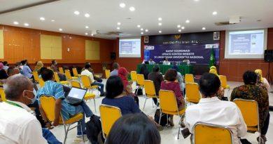 Rapat Koordinasi Update Konten Website Program Studi (Prodi), Fakultas serta unit-unit terkait pada Selasa (03/11/2020) di Auditorium Unas.