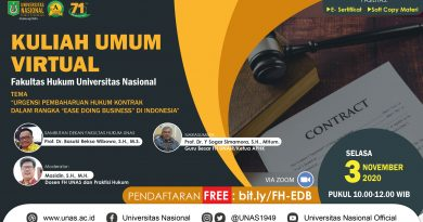 Kuliah Umum Virtual Fakultas Hukum Universitas Nasional
