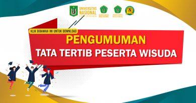 Pengumuman Tata tertib peserta Wisuda UNAS