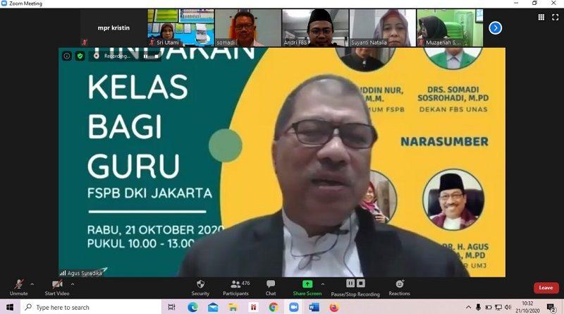 Prof. Dr. Agus Suradika, M.Pd Pemateri Kegiatan Pelatihan Penelitian Tindakan Kelas
