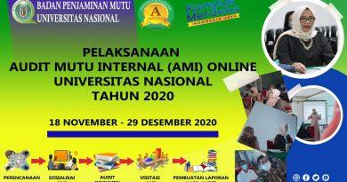 PELAKSANAAN AUDIT MUTU INTERNAL ONLINE UNAS 2020