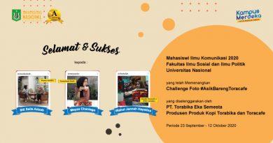Santai Bareng Toracafe, Mahasiswa Ilmu Komunikasi UNAS Dapat Giveaway!