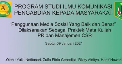 Mahasiswa Ilmu Komunikasi Sosialisasikan Penggunaan Media Sosial Kepada Remaja Yayasan Rumah Tamah Sejahtera