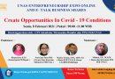 UNAS ENTREPRENEURSHIP EXPO ONLINE AND E-TALK BUSINESS SHARES