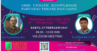 SERI UPDATE KNOWLEDGE FAKULTAS TEKNIK DAN SAINS