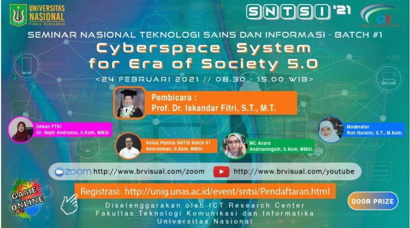 Seminar Nasional Teknologi Sains dan Informasi-Batch#1