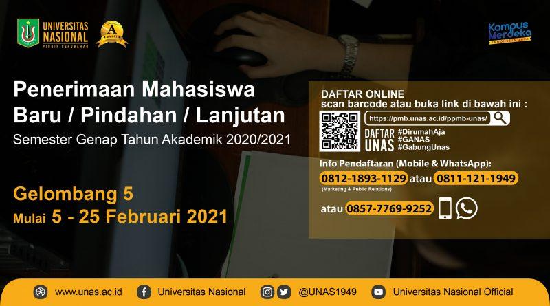 Web Banner PPMB UNAS GENAP 2021-2021