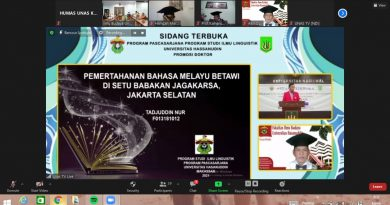 Raih Gelar Doktor Ilmu Linguistik, Tadjuddin Berharap Bahasa Melayu Betawi Tetap di Lestarikan
