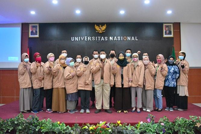 Foto bersama saat Rapat Evaluasi Kerja (RASIJA) FTKI Semester Ganjil 2020-2021