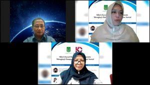 W. Aris Darmono, Adilita Pramanti, S.Sos., M.Si., dan Dr. Ir. Nonon Saribanon, M.Si. (atas kiri ke bawah)