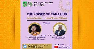 "Sesi Kajian Ramadhan PPI-UNAS ""The Power of Tahajud"""