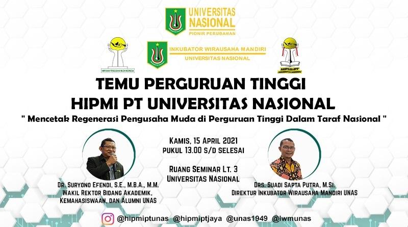 Temu Perguruan Tinggi HIPMI PT Universitas Nasional
