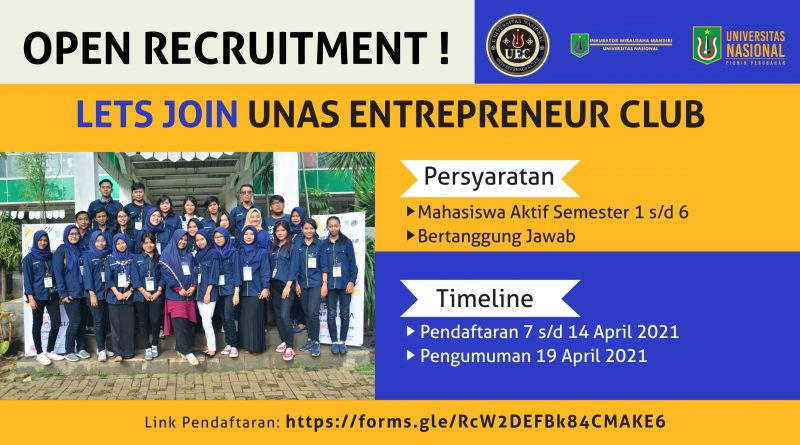 RECRUITMENT UNAS ENTREPRENEUR CLUB