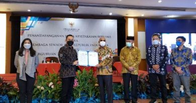 Penandatanganan Nota Kesepakatan Bersama (MoU) Universitas Nasional dengan Lembaga Sensor Film (LSF) pada Rabu, 31 Maret 2021 di Hotel Sahid Jakarta