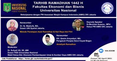 Sambut Bulan Puasa, FEB Unas Gandeng AMKI DKI Jakarta Lakukan Tarhib Ramadhan