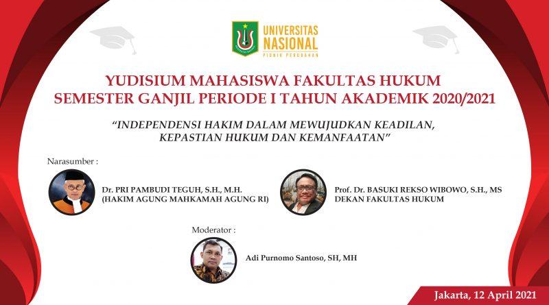YUDISIUM MAHASISWA FAKULTAS HUKUM SEMESTER GANJIL PERIODE I T.A. 2020/2021