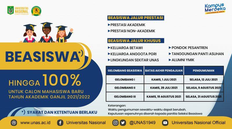 BEASISWA UNAS UNTUK CALON MAHASISWA BARU (SEMESTER GANJIL 2021/2022)