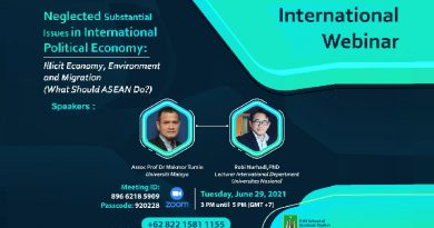 International Webinar Neglected Substantial Issues in International Political Economy Illicit Economy-Environment and Migration