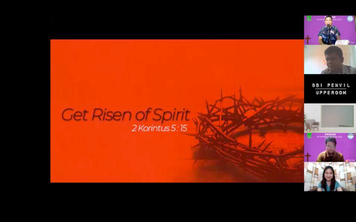 Materi oleh Sony Mongan dalam Ibadah dan Perayaan Paskah 2021 yang diselenggarakan oleh Persatuan Oikoumene pada hari Sabtu, 12 Juni 2021