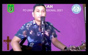 Sony Mongan dalam Ibadah dan Perayaan Paskah 2021 yang diselenggarakan oleh Persatuan Oikoumene pada hari Sabtu, 12 Juni 2021