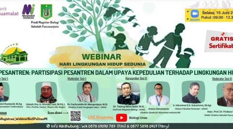 Prodi Magister Biologi UNAS-Webinar Hari Lingkungan Hidup Sedunia