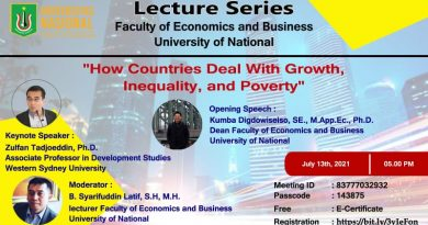 """Lecture Series Faculty of Economics and Business University of National """"How Countries Deal With Growth inequality and poverty"""""""